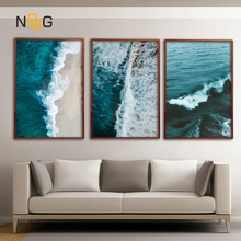 NOOG Nordic Beach Decoration Poster and Prints Life Quote Sea Landscape Wall Art Canvas Painting Decorative Picture Home Decor