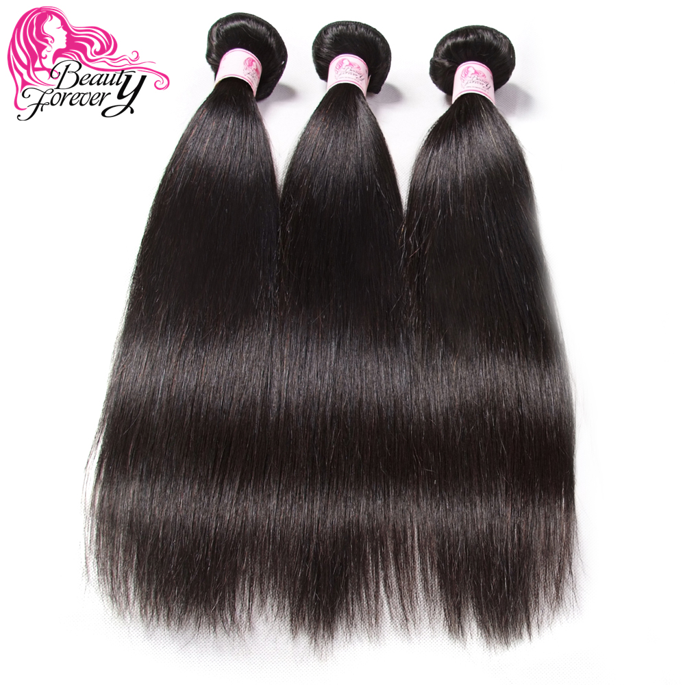 BEAUTY FOREVER Malaysian Straight Human Hair Weaves 100 Remy Hair Weft 3 Bundles 8 30inch Natual