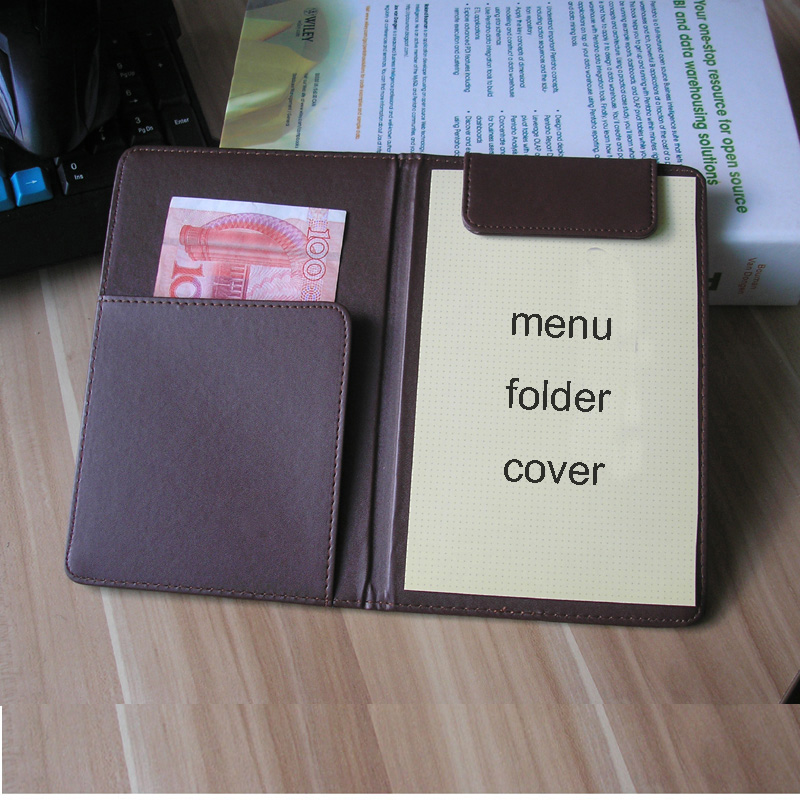PU Leather Menu Folder Menu Cover Holder Leather Menu Holders Organizer Office Notepad File Folder Hotel Restaurant Bill Cover