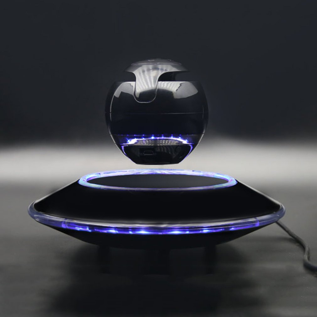360 di Rotazione di volo Altoparlante Bluetooth Luce Sospensione della Sfera Altoparlante di Figura Luce Disco Volante di Base Rotante Subwoofer