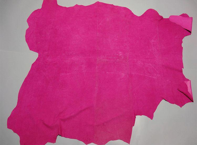 Rose rouge véritable cuir de peau de porc matériel vente par pièce entière