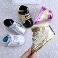 2017 Nueva Infant Toddler Bebé Recién Nacido Zapatos Unisex Niños pequeños Zapatillas Bebe Soft suela antideslizante atado-t zapatos R2112
