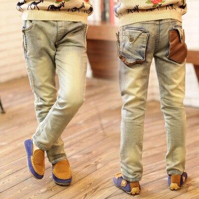 Бесплатная доставка новое прибытие мальчика джинсы Весна/осень детские джинсы стрейч джокер брюки мальчик тенденция джинсы брюки