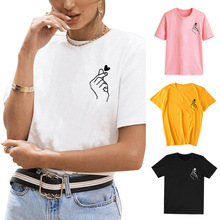 love t shirt plus size 90s graphic tees women japanese korean clothes casual print o-neck vintage gothic streetwear 2019