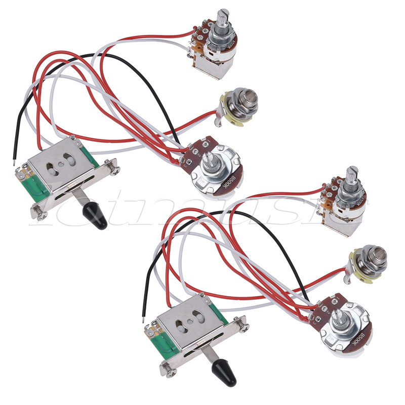 Electric Guitar Wiring Harness Prewired Kit  Way Toggle Switch  Tone K Pots