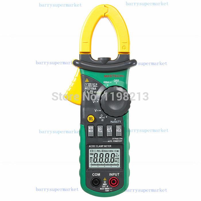 Mastech MS2108A Auto Range DC AC Current Digital Clamp Meter Multimeter Voltage Frequency Meter Tester Backlight  цены