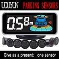 8/NY606 sensores Car Kit Display LCD Sensor de Aparcamiento para todos los coches aparcamiento detector de ayuda al aparcamiento sensor de aparcamiento
