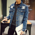 Arrivals 2017 Brand Clothing Men Denim Jackets Casual Slim Jean Jacket Mens Fashion Sping  Outerwear & Coats Male Cowboy S-5XL
