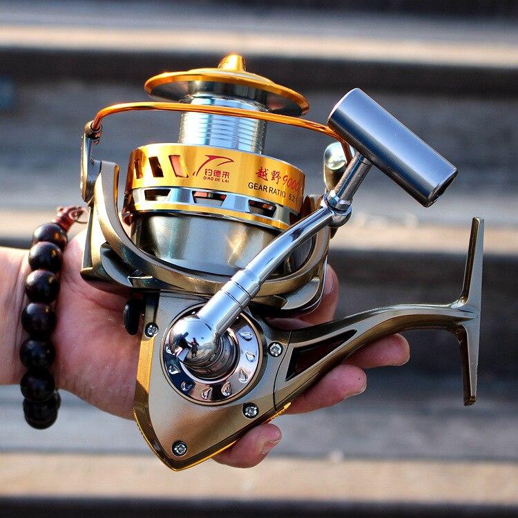 Free delivery 8000 9000 full metal cup cross-country line fishing reel wheel cast far sea fishing boat fishing wheel wheel bolt