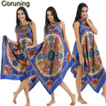 RB102 2017 New Arrival Floral Impresso Strape Sleepdress Sexy Sleepwear Camisola de Seda Mulheres Cothing Longo Estilo Casa Da Noiva Robe