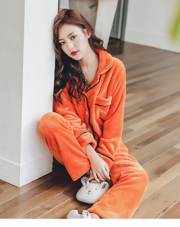 Plus Size 3XL 4XL 5XL Pajamas for women 2019 Winter Thicken Flannel pyjamas Long-sleeve lovely Sleepwear Coral Fleece Nightgowns 166