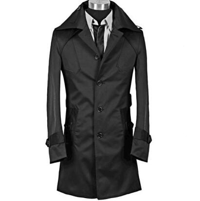 2017 new arrival autumn slim sexy trench coat men long sleeve outerwear mens trench coat clothing belt modern urban big size 9XL
