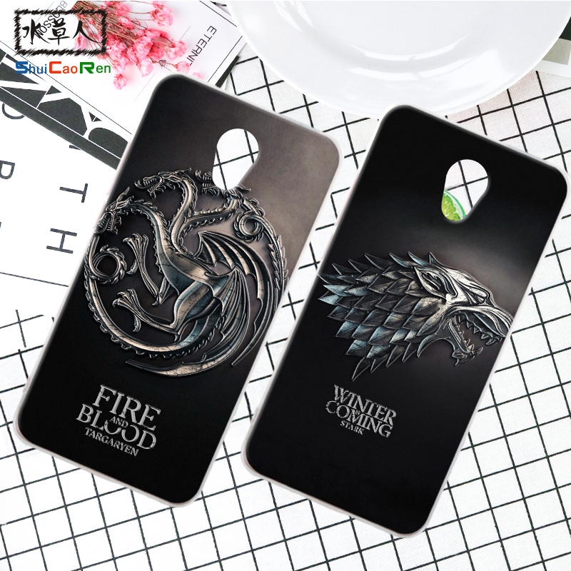 ShuiCaoRen Silicone Case For Lenovo Vibe P2 P2C72 Retra Game of Thrones Cover Phone Coque Ice and Fire Fundas For Lenovo P1