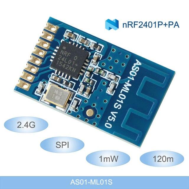 2.4 ghz nRF24L01P rf Module Không Dây Mô-đun cho mạng 2.4 gam SPI 1 mw 120 m Thu Phát với PCB ăng ten SMD máy phát và máy Thu