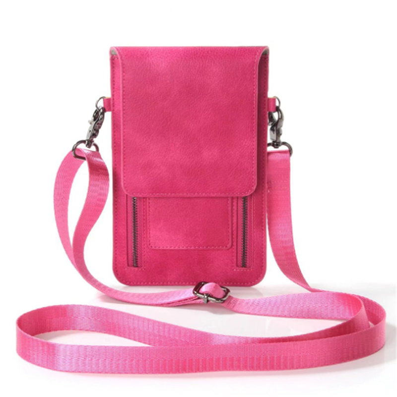 Fashion Travel Outdoor Sport Handbags Woman Solid Phone Bags Earphone Pack Double Zipper Crossbody Bag Aesthetic Appearance Engagement & Wedding
