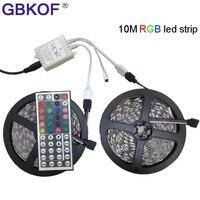 Flexibele 5050 LED Strip RGB 10 m 600 leds Waterdichte Streep Light 10 m RGB led strip kit Met 44 toetsen Afstandsbediening Gratis verzending