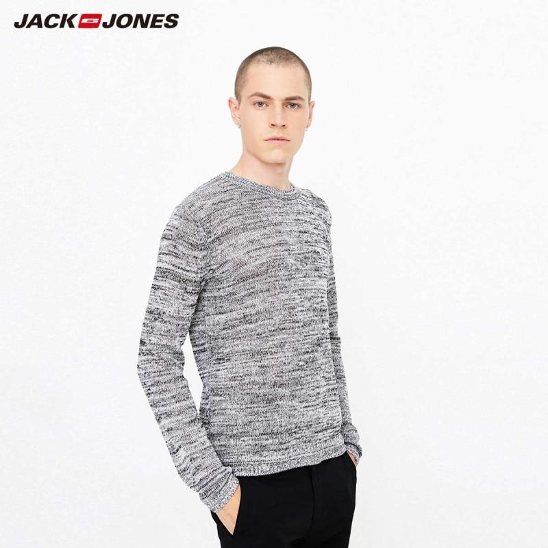 JackJones Autumn Men's Linen Blend Floral Long Sleeve Sweater Top Basic 218324527