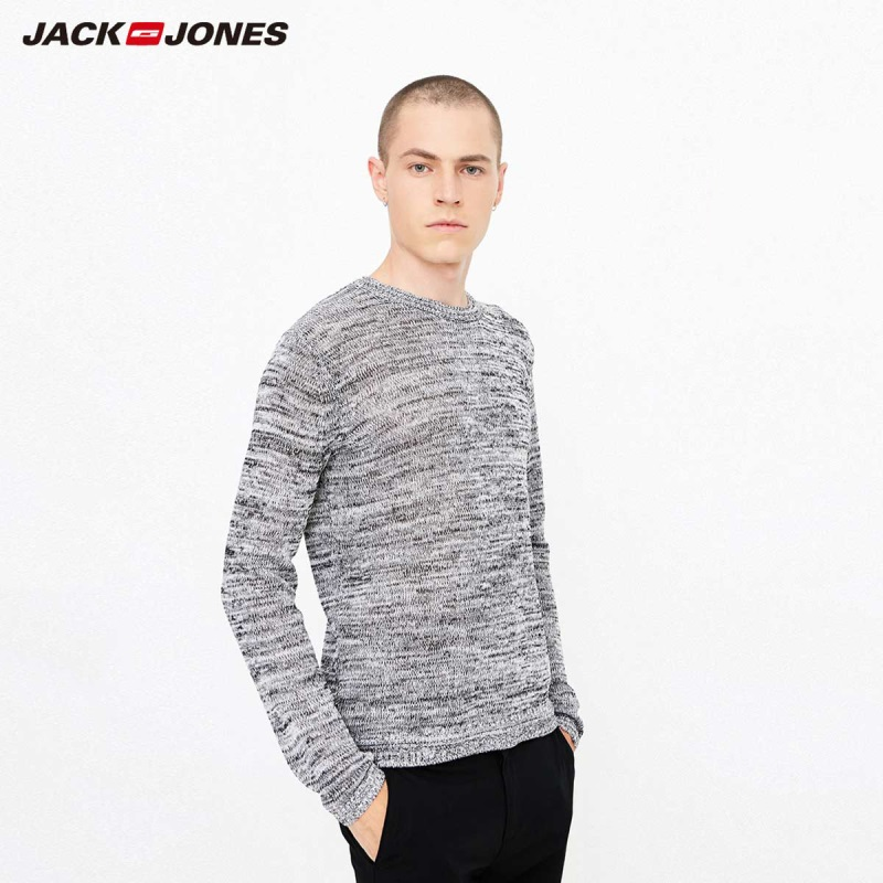 JackJones Men's Linen Blend Floral Long Sleeve Sweater Top Basic 218324527