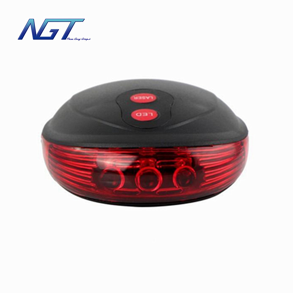 Bike Lights Easy install high security alert waterproof ultra bright LED laser parallel bicycle taillights cycling sports light