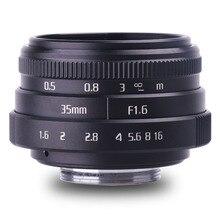 Новое поступление fujian 35 мм f1.6 C mount camera CCTV Lens II для N1 Fujifilm Fuji NEX Micro 4/3 EOS B