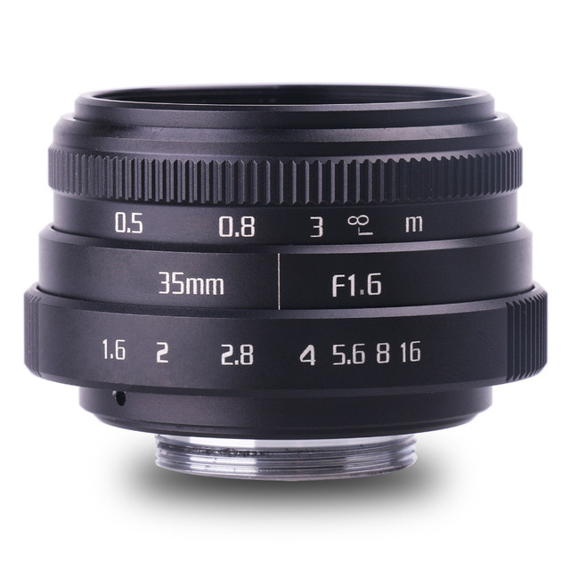 new arrive fujian 35mm f1.6 C mount  camera CCTV Lenses II for N1 Fujifilm Fuji NEX Micro 4/3 EOS B