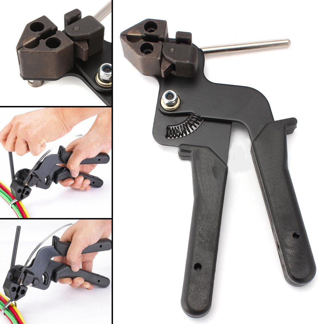 Heavy Duty Stainless Steel Cable Tie Tensioner Cutter Fasten Pliers Crimper Tool