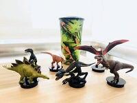 Jurassic World 2 Fallen Kingdom T Rex 6PCS SET Figure Topper Exclusive Theater Anime Figure Collectible Model Toy