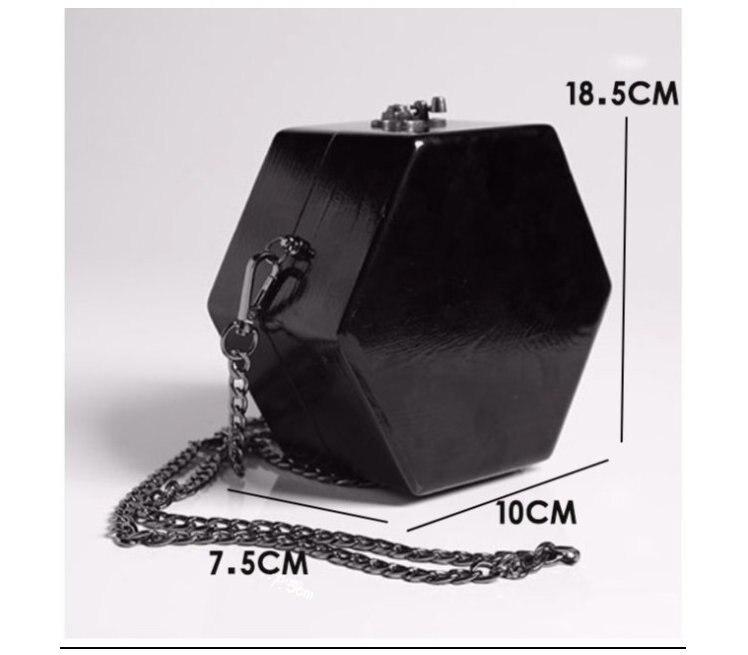 61aa75be63 Trong original handmade women s vintage arbor wood handbag hexagon  personalized shoulder bags chain cross body box bags bolsas on  Aliexpress.com