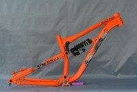 2018 новые алюминивая велосипедная амортизационная Рамный горный велосипед задний амортизатор рамы 27.5ER Downwill рамка вал 142*12 мм цвета: оранжевы