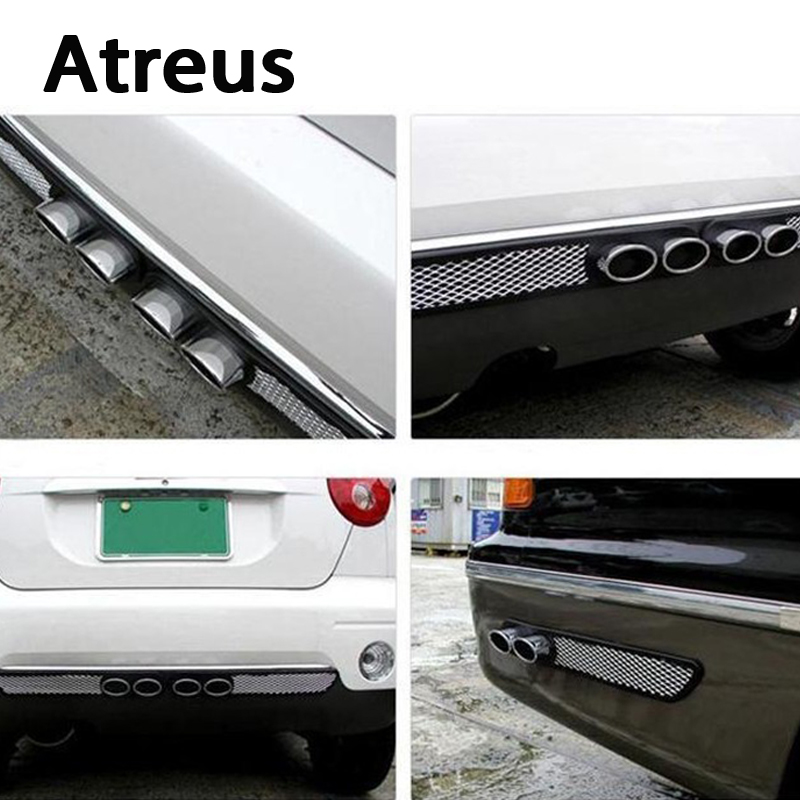 Atreus 2X Car styling 3D Cool Auto carbon Exhaust Stickers For Volkswagen VW Polo Passat B5 B6 Golf 4 Opel Astra H J G Insignia