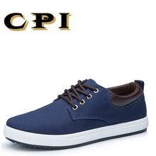 CPI/Новое поступление весенне-летней комфортной повседневной обуви, парусиновая обувь, мужская обувь на шнуровке, модная брендовая обувь на плоской подошве, обувь, CC-22