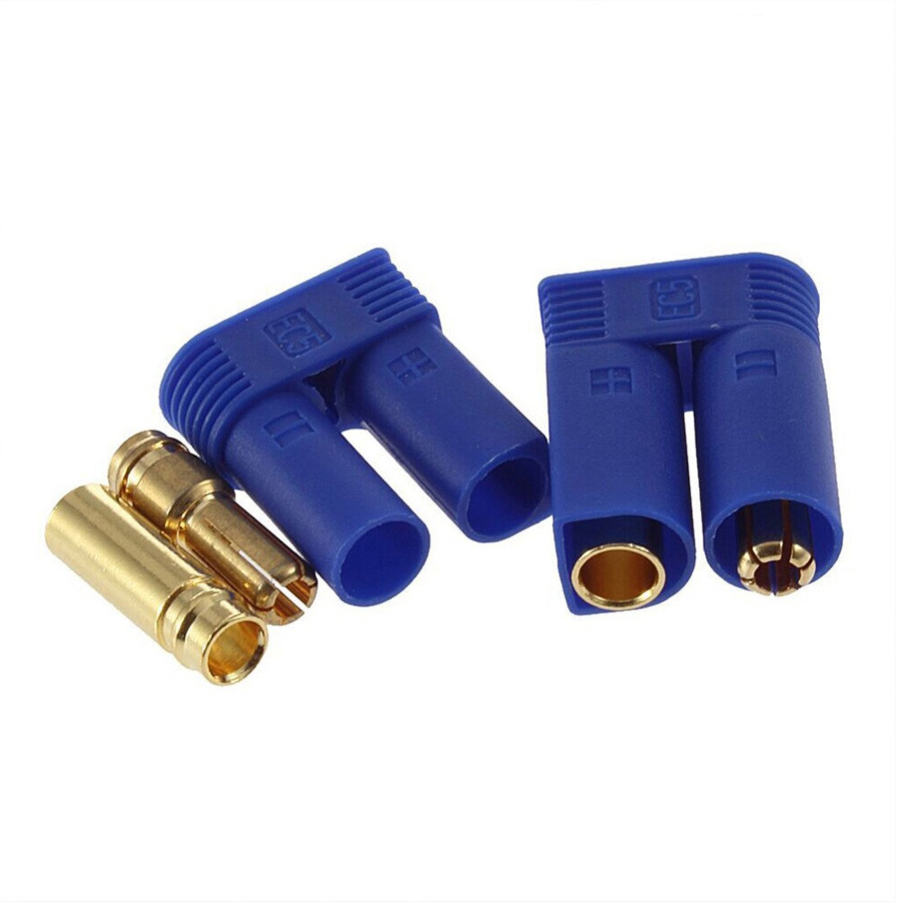 5set/lot EC3 3mm/EC5 5mm Male-Female Type Battery Connector Golden Battery Connector Bullet Plug