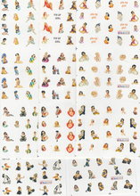 5X Larger Sheet/Lot (11 DESIGNS IN 1) PIN UP GIRL Decals Water Transfer Nail Sticker Set BLE2204-2214