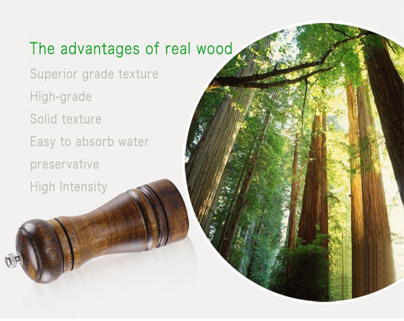 real wood pepper mill