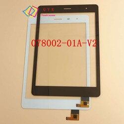 7.85 cal do TeXet TM 7855 3G tablet pc pojemnościowy ekran dotykowy digitalizator do szkła ekranu panel P/N RS7F383_V1.1 w Ekrany LCD i panele do tabletów od Komputer i biuro na