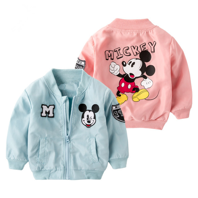 da80d327b Spring Mickey Jacket for Baby Boys Girls Coat Kids Cartoon Cotton ...