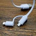 2 pçs/lote 2 em 1 cabo de telefone 1a 22 cm curto cabo micro usb para iphone 5 5s 6 6 plus 7 samsung xiaomi huawei banco de potência da linha de dados