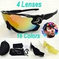 4 Lente 2017 JBR TR90 gafas de Sol Polarizadas Hombres Gafas de Deporte MTB Carretera de Montaña Bici Bicicleta Ciclismo Gafas Gafas