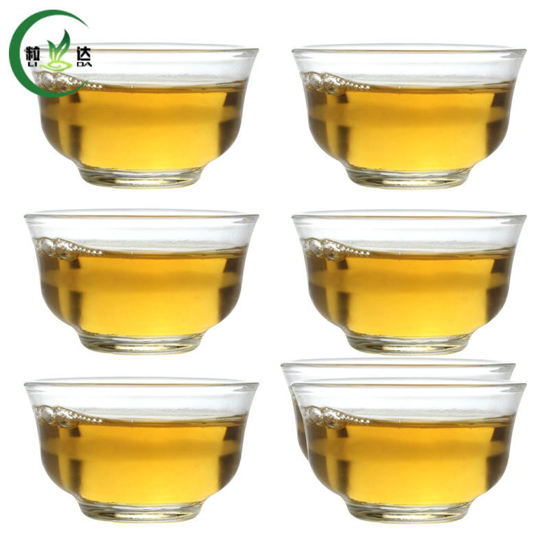 6 pcs 15ml High Quality Xiao Yu Lan Heat-Resisting Glass Tea Cup Green Tea Cup Oolong Tea Cup Puer Tea Cup