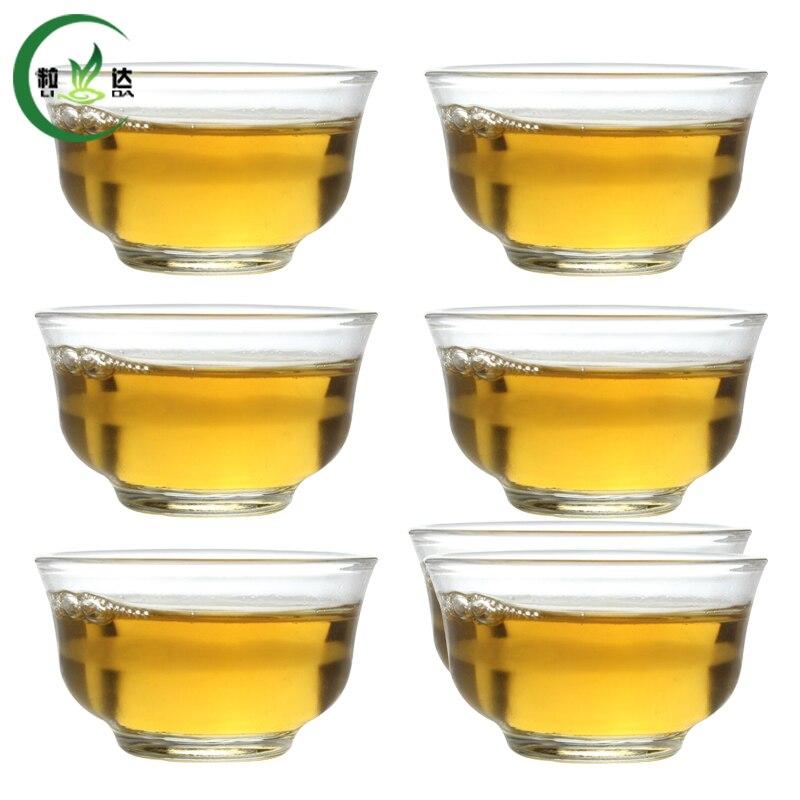 6 pcs 15ml High Quality Xiao Yu Lan Heat-Resisting Glass Tea Cup Green Tea Cup Oolong Tea Cup Puer Tea Cup