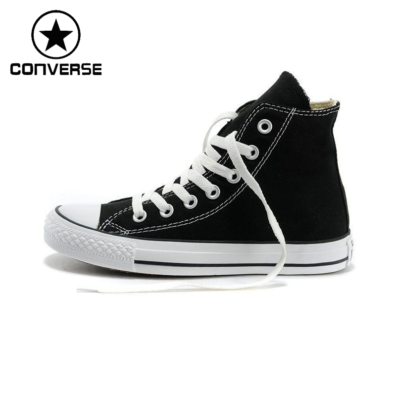 Original New Arrival 2018 Converse High top Classic Canvas Skateboarding Shoes Unisex  Sneakser