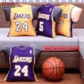 LA Lakers Basquetebol Nova Temporada Jersey de Ouro Almofada Do Assento de Carro de Volta Bolstes Fãs Lembrança Kobe Bryant
