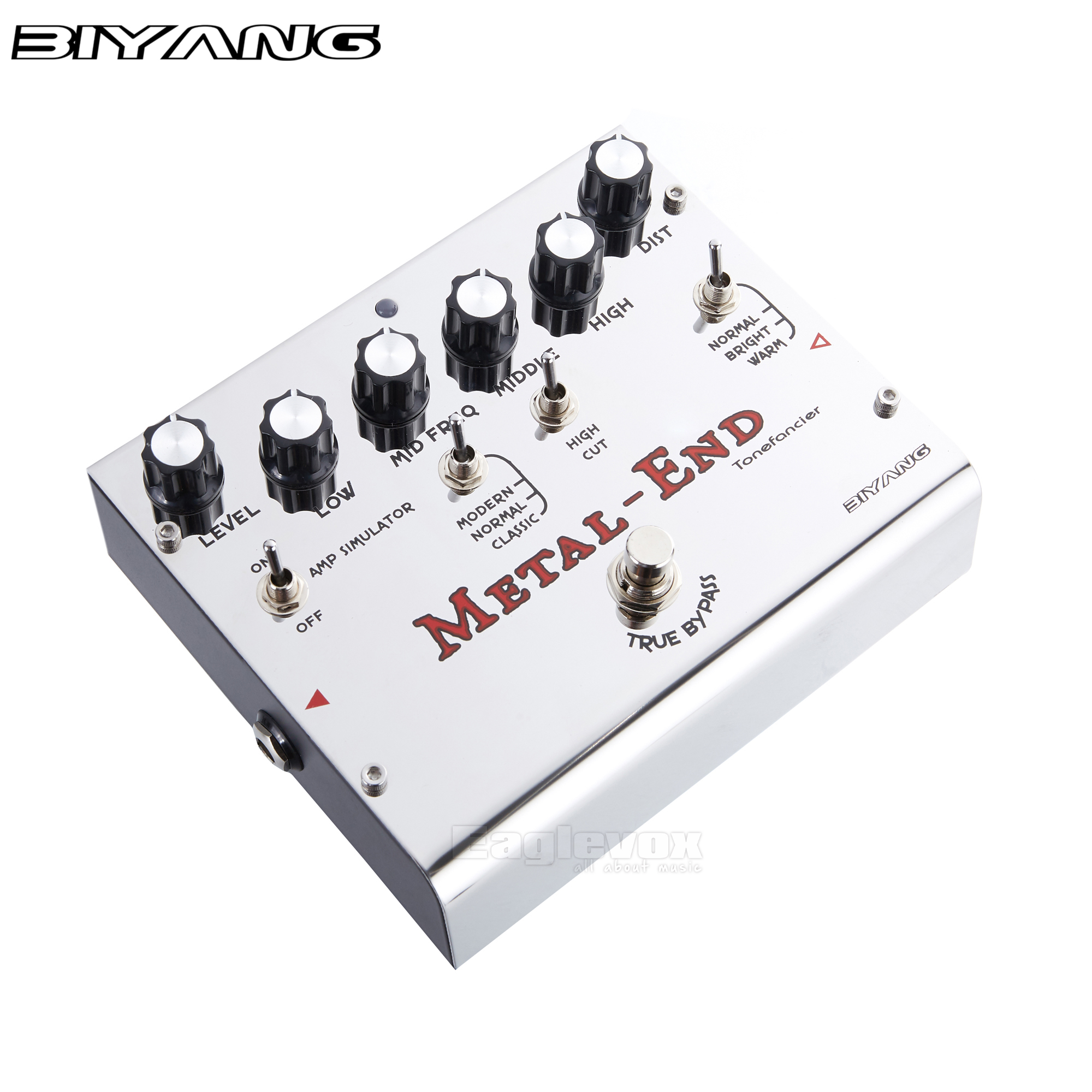Biyang Metal End Guitar Effect Pedal Effects Stompbox for Electric Guitar Give More Choice for Different Types of Music eliminate the effect of mai using different techniques