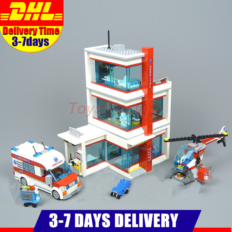 Compatible 60204 Lepin 02113 943Pcs City Hospital Sets Ambulance Car Helicopter Building Blocks Bricks Model Kits Toys Gifts