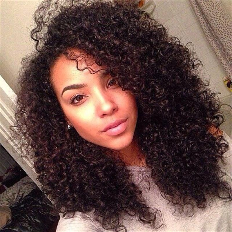 130% Density Lace Front Wig Kinky Curly Wigs Vietnamese Human Hair for Black Women Preplucked With Baby Hair Bleached Knots
