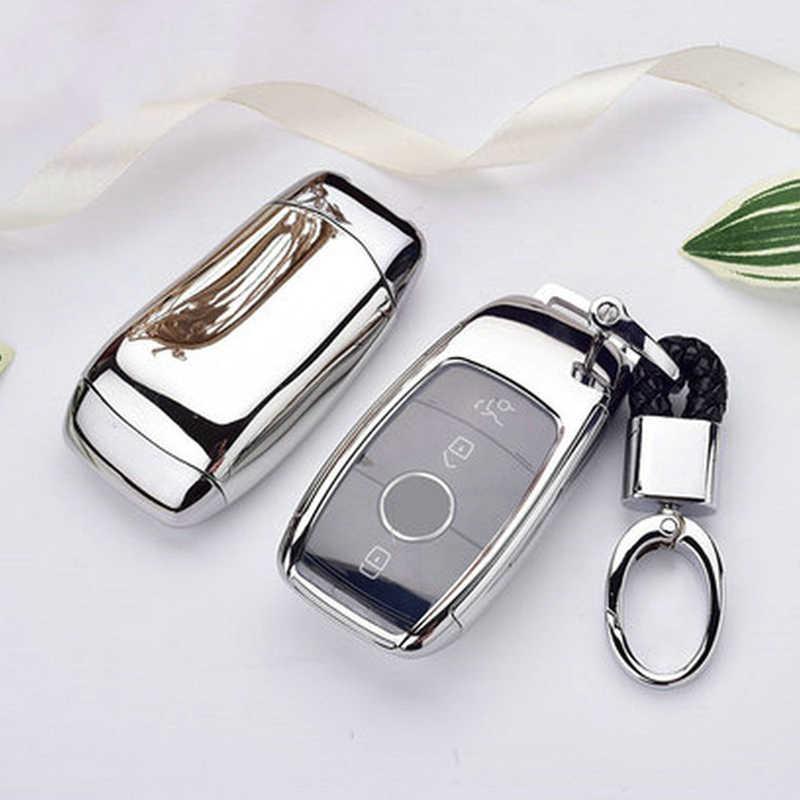 Черный ТПУ автомобильный чехол для ключей Замена черное кольцо для Mercedes Benz W177 W205 C205 W213 1 шт. износостойкий устойчивый к царапинам