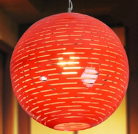 Classical festival lamp is acted the role of Chinese red lanterns absorb dome light Dining room lamp verandas droplight