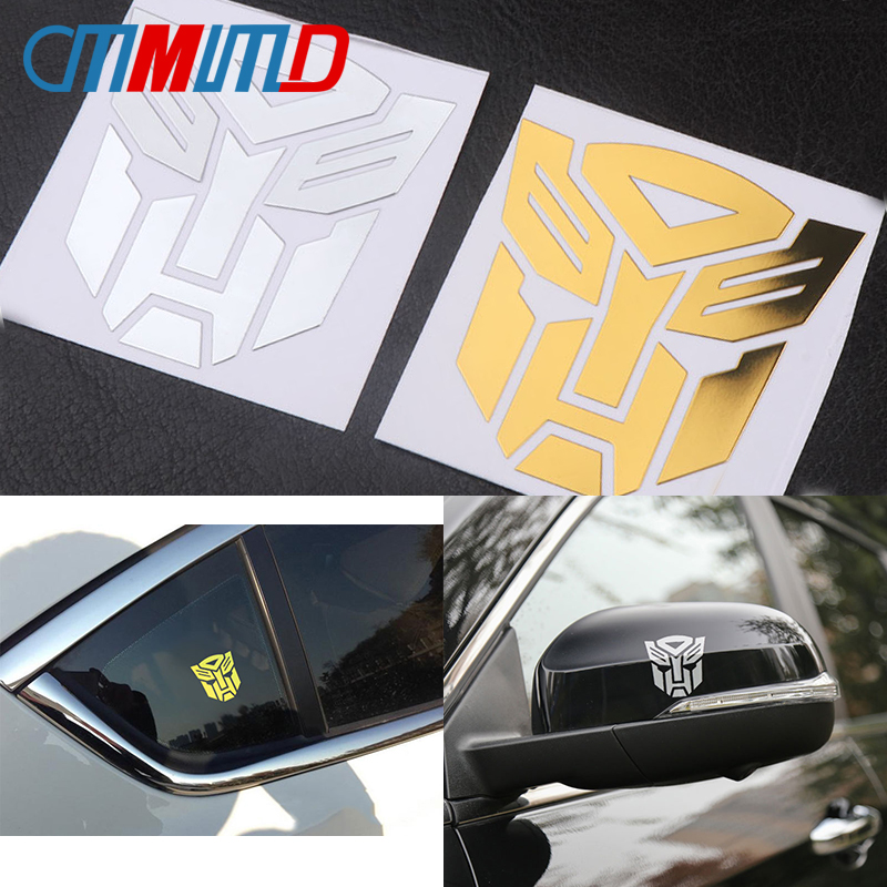 Car Styling Metal Transformer Sticker Decals 3D Reflective Motorcycle Laptop Truck Car Window Body Bumper Decals Decoration