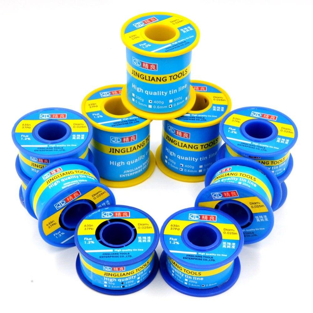 Solder Welding Wires Sn63 Pb37 1.2% Flux Low Melting Temperature Non-halogen Non-corrosive Non-splash Non-odor For Soldering
