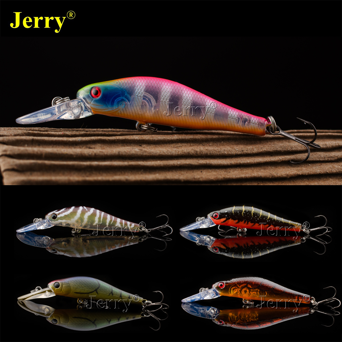 Jerry Japan minnow 5.5cm/2.17in 4g BKK hook deep medium diving jerkbait crankbait hard lure bait plug fishing crank bait wldslure 1pc 54g minnow sea fishing crankbait bass hard bait tuna lures wobbler trolling lure treble hook